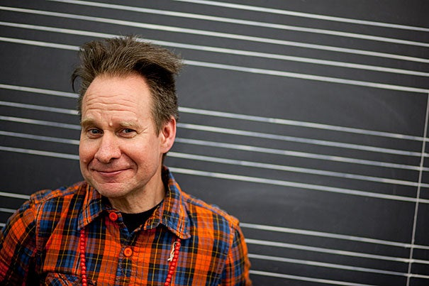 """""""My work does not yield itself to offering its meaning in a 10-minute span. I am offering something way more complicated, and it takes a long time to digest,"""" said Peter Sellars '81, who spoke to Harvard students on April 5."""
