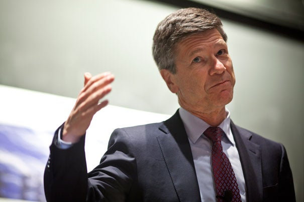 """""""Stop pretending that government will play a role, because it won't,"""" said Jeffrey Sachs, director of Columbia University's Earth Institute, during a talk at the Harvard University Center for the Environment."""