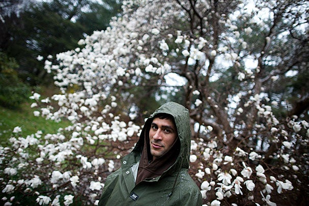 """The crux of my job is trash,"" said Arnold Arboretum gardener Nima Samimi, who has devised a number of inventive solutions to reduce waste and litter and promote recycling on the grounds, earning him the first-ever Arnold Arboretum Director's Innovation Award in 2009."