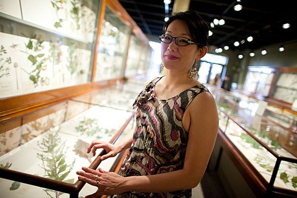 """In her new works, Anna Maria Hong often shuns the sonnet's formal rhyming schemes, imposing certain structures onto the poem's frame to """"bend it, and torque it, and incinerate it."""" Since the fall the Radcliffe fellow has completed 85 works: """"This has been by far the most productive time in my writing life,"""" she said."""