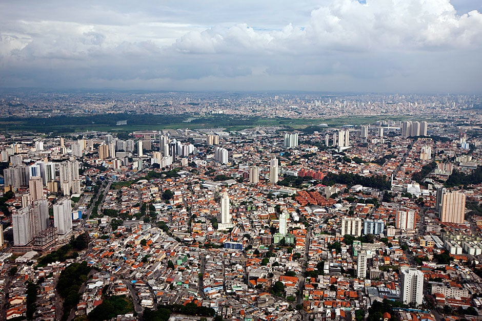 March 22, 2011. Aerial view of São Paulo, Brazil. Photo by Kris Snibbe/Harvard Staff Photographer