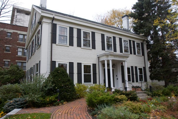 View of the Nieman Foundation for Journalism at Harvard. Photo by Kris Snibbe/Harvard Staff Photographer