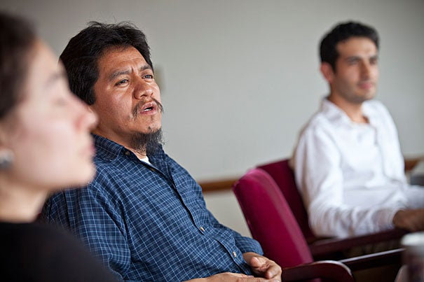 Pedro Mateo, a Harvard postdoctoral fellow in linguistics, is working with professor Maria Polinsky to preserve, promote, and better understand the ancient Mayan languages.