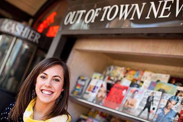 """Undergraduate orator Katie Coulson '11: """"I've learned so much about what it means to partner with communities rather than viewing yourself as someone who goes in to fix things."""""""