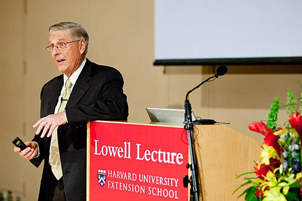 """""""In five to seven years, we're going to be facing true financial catastrophe, with the possibility of actual bankruptcy in this country. We'll probably throw up our hands … and what we'll probably do at that point is expand Medicare to cover everyone,"""" said ABC-TV's medical editor Timothy Johnson, who delivered the Lowell Lecture on May 4."""