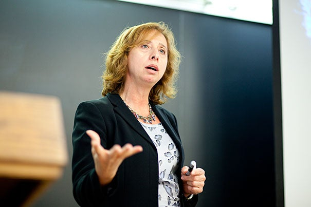 Even though animal life is abundant on Earth today, much of the life here remains microscopic, said Jocelyne DiRuggiero of Johns Hopkins University at a Harvard Origins of Life lecture.
