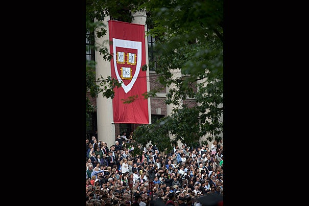 View of Harvard's 2010 Commencement.