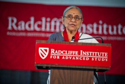 """Transformation comes from within,"" said Ela Bhatt, whose union work with the Self Employed Women's Association (SEWA) of India has transformed the lives of more than a million women in her country. Bhatt was honored on May 27 with the Radcliffe Medal."