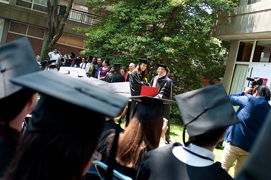 Diplomas are awarded at Currier House. Katherine C. Cohen/Harvard Staff Photographer