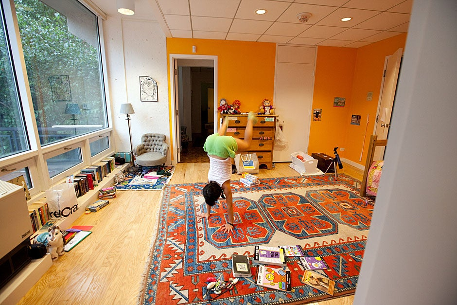 Some days, Mara's bedroom is her gymnasium. Rose Lincoln/Harvard Staff Photographer
