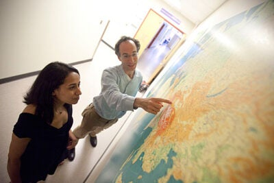 Doctoral student Priya Moorjani (left) and Associate Professor of Genetics David Reich have used a new DNA analysis technique to track when and how much gene flow occurred from sub-Saharan Africa into populations in Europe and the Middle East.