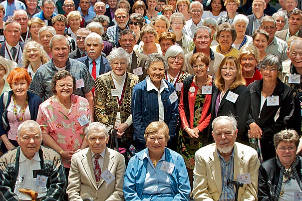 More than 100 Joslin 50-Year Medalists gathered at Joslin Diabetes Center, a Harvard Medical School affiliate, on June 4.  Joslin scientists spotted unusual and positive health trends among the 50-Year Medalists, which led to the launch of the Medalist Study in 2005.