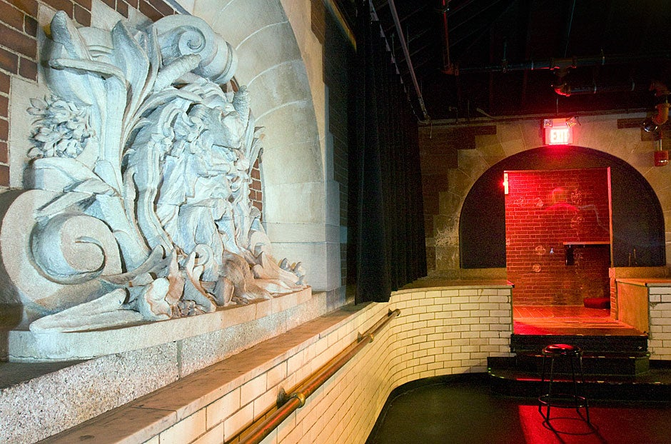 View of a fountain spout in the Adams House Pool Theater. Kris Snibbe/Harvard Staff Photographer