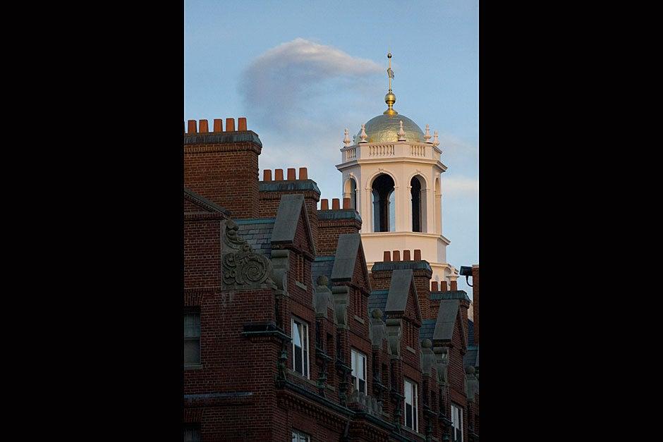 The Adams House tower creates a majestic skyline. Kris Snibbe/Harvard Staff Photographer