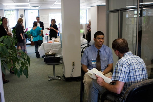Harvard University and the city of Boston's Allston-Brighton Resource Center hosted a job fair on June 27. It was one in a series of job fairs geared toward linking local residents with new Harvard tenants, which are bringing more than 100 jobs to the neighborhood.