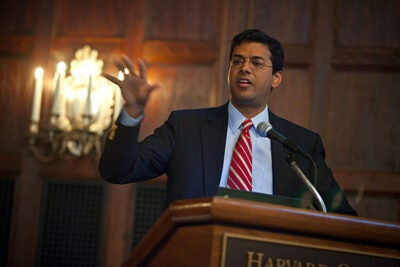 Harvard School of Public Health Professor Atul Gawande (pictured) and co-principal investigator Jonathan Spector, research associate in health policy and management at HSPH, are leading the BetterBirth clinical trial. The study will evaluate the impact of the WHO Safe Childbirth Checklist program at hospitals in Uttar Pradesh, India.