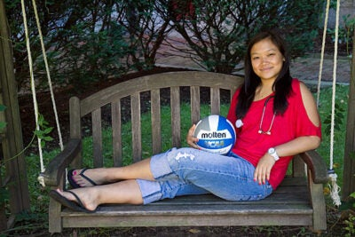 """""""I'm going on an 'exposure tour' with some other girls who also want to play professionally,"""" said senior libero Christine Wu, who will postpone medical school for a few years to turn pro. """"For 10 days we're going to travel around Italy, Austria, and Slovenia, and coaches will come, recruit, watch, and hopefully it will all work out."""""""