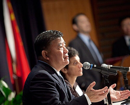 """Chinese Minister of Health Chen Zhu said the cost of improving care remains a hurdle, which is why China is looking to other nations for cost-effective solutions. """"With limited funding, we have to choose suitable, affordable, effective technology,"""" Chen said during the  """"Harvard America-China Health Summit."""""""
