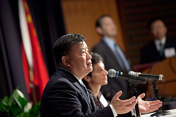 "Chinese Minister of Health Chen Zhu said the cost of improving care remains a hurdle, which is why China is looking to other nations for cost-effective solutions. ""With limited funding, we have to choose suitable, affordable, effective technology,"" Chen said during the  ""Harvard America-China Health Summit."""