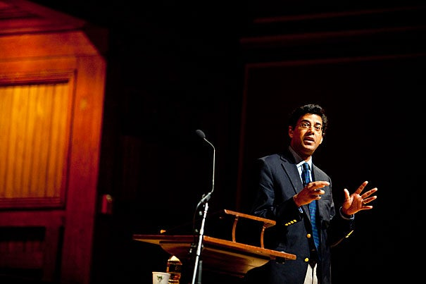 """Health care costs are destroying American prosperity,"" said Atul Gawande, who is also an associate professor in the Department of Health Policy and Management in the Harvard School of Public Health and associate professor of surgery at Harvard Medical School. ""But the field of medicine is incredibly complex. How do we, in the field, deal with that complexity? It's man's most ambitious endeavor. Is it any surprise that we're finding it hard?"""