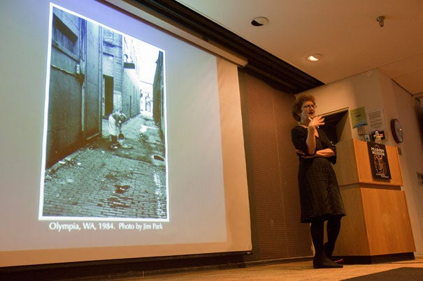 "Before the Industrial Revolution, trash was virtually unknown, said Susan Strasser, author of the book ""Waste and Want: A Social History of Trash."" Strasser spoke at Harvard's Geological Lecture Hall as part of the Peabody Museum of Archaeology and Ethnology's fall lecture series, ""Trash Talk."""