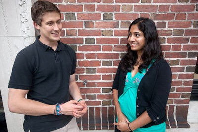 """Harvard Medical Students Divya Mallampati and John Heintz took a class called """"Clinical Topics in Global Health,"""" which stretched their creativity and made them think critically about their futures in the field."""