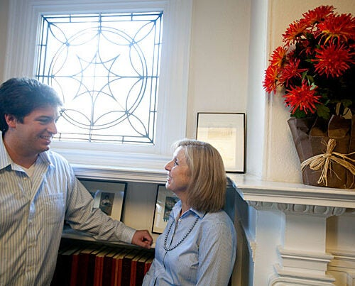 """For the right person coming out of Harvard, the military can be the perfect next step,"" said Robert Wheeler '05, M.B.A. '11 (left), who served three years as an Army officer. Nancy Saunders (right), director of undergraduate career programming and advising at OCS, said the new pamphlet ""absolutely fills a void for us."" ""We want to educate students about all of the options ...,"" she added."