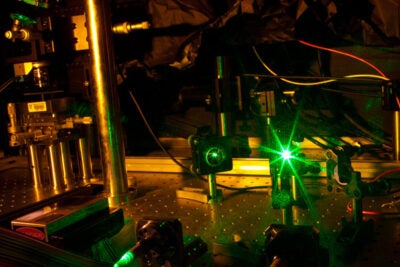 Researchers led by Marko Lončar at SEAS have managed to control the rate of emission of photons from diamond nanoposts, an important advance toward quantum computing.