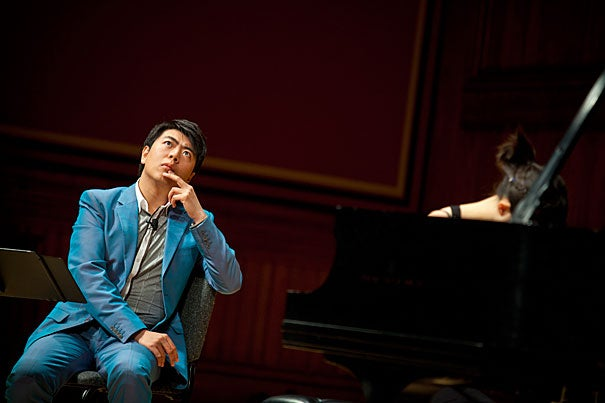 "Twenty-nine year old Lang Lang, hailed by The New York Times as ""the hottest artist on the classical music planet,"" presided over a master class featuring three Harvard undergraduate players."