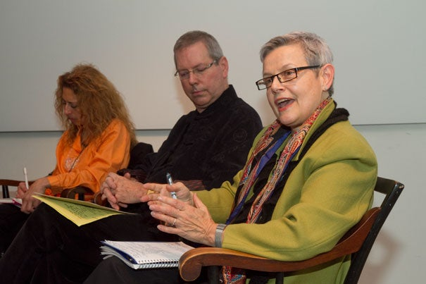 Artist-endowed foundations are a burgeoning force influencing the global art world, says Christine J. Vincent (right), who authored the study, which identified some 300 such foundations holding close to $3 billion in assets. Other panelists pictured are (left) Carolyn Somers and Jack Cowart.