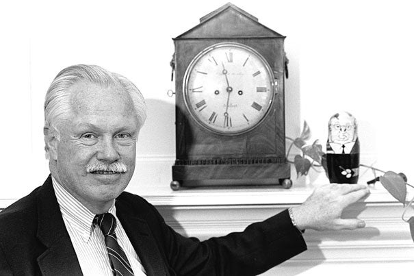 L. Fred Jewett's career at Harvard spanned 35 years, during which he served as dean of admissions as well as the College's top administrator. He passed away on Nov. 27.