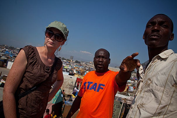 Assistant Professor of Medicine Louise Ivers was awarded the Ashford Medal by the American Society of Tropical Medicine and Hygiene. For more than eight years, Ivers has worked in Haiti, leading efforts to implement health and social justice programs, and expand clinical services. Ivers (left) following the January 2010 earthquake in Haiti.