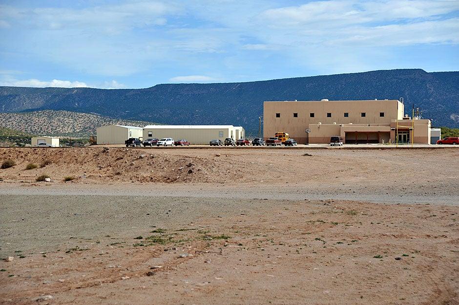 The Walatowa Charter School sits across the highway from Jemez Pueblo. Jon Chase/Harvard Staff Photographer