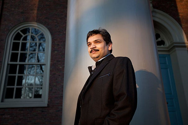 """For Sunil Chauhan, an eye researcher at Harvard-affiliated Schepens Eye Research Institute and an assistant professor at Harvard Medical School, the Shore Fellowship means being able to hire an additional postdoctoral fellow to help in the lab. """"This is a fantastic program,"""" he said. """"Now I can spend more time on writing."""""""