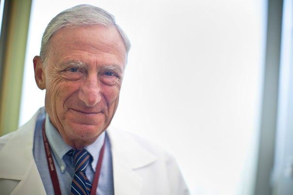 "David Rosenthal, who has led Harvard University Health Services for 23 years, will be stepping down at the end of the academic year. ""I am proud of all that we have accomplished together at HUHS,"" he said. Rosenthal is the Henry K. Oliver Professor of Hygiene and professor of medicine. He has served under four Harvard presidents."