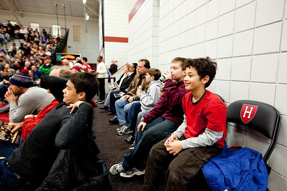Young fans enjoy the show.  Rose Lincoln/ Harvard Staff Photographer