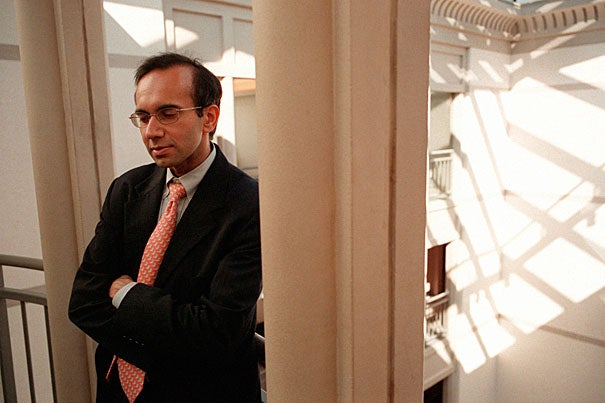 Tarun Khanna's (above) new Gen Ed course on South Asia's long-term problems and their possible entrepreneurial solutions attracted students from across the University last semester. Harvard's understanding of the region's importance will be highlighted by President Drew Faust's visit to India this week.