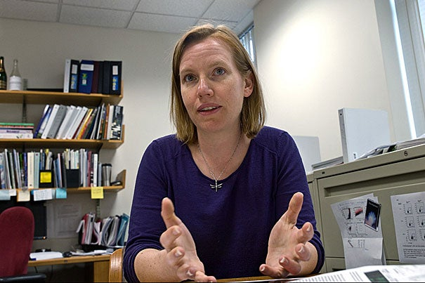 In a study, researchers report that defects in the regeneration of the myelin sheaths surrounding nerves, which are lost in diseases such as MS, may be at least partially corrected after exposing an old animal to the circulatory system of a young animal. The research was led by Associate Professor Amy Wagers (above) of Harvard's Department of Stem Cell and Regenerative Biology and the Harvard Stem Cell Institute.