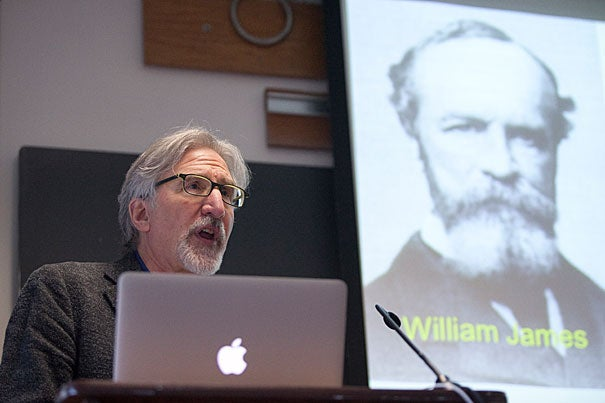 """NYU Professor Ned Block's lecture, """"How Empirical Facts About Attention Transform Traditional Philosophical Debates About the Nature of Perception,"""" marked the resurrection of the William James Lectures, a long-running series of talks in the 20th century that featured such well-known intellectuals as Bertrand Russell and John Dewey."""