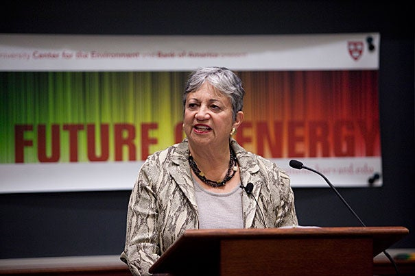 Mary Nichols, chair of the California Air Resources Board, attributed the waning momentum behind climate change legislation to the nation's economic struggles and predicted that momentum will pick up as the economy improves. Nichols presented at Harvard's Future of Energy lecture series.
