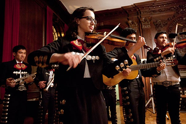 Harvard undergraduates have a long tradition of making their own music, with new outlets for their talents and interests being added all the time. Students participate in more than 50 musical groups, ranging from the Mozart Society Orchestra to Mariachi Véritas de Harvard (pictured). The registrar's office says that more than 20 percent of undergraduates list music as a valued extracurricular activity.