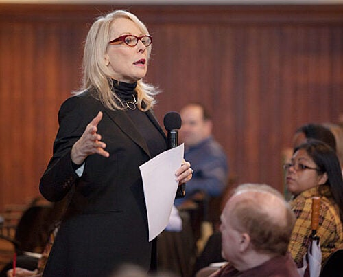 Connie Wong, of CWS Associates, led the latest Diversity Dialogue: a role-playing presentation before more than 125 people from across the University.