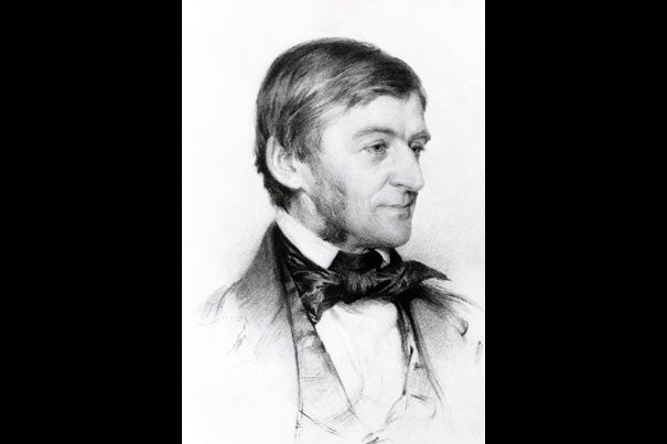 """Ralph Waldo Emerson argued for the notion that the divine speaks within each of us. That concept has the root of a radically """"democratic sentiment,"""" said David Lamberth, professor of philosophy and theology, one """"antithetical to a tradition that took Jesus as the exemplar rather than one example among many."""""""