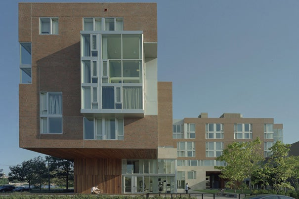 "A building designed by Kyu Sung Woo Architects at 10 Akron St. in Cambridge, Mass., has won the Harleston Parker Medal for 2011 as ""the single most beautiful building or other structure"" recently built in metropolitan Boston."