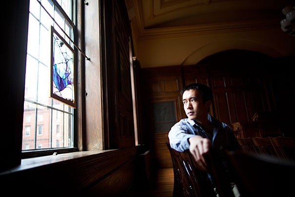 """If 'and what are you going do with that?' is the question that is most often asked of a literature student after disclosing his major at a family reunion, then to tell the world that I am studying theology is often to be met with a befuddlement beyond words,"" said Harvard Divinity School student Chen Zhang. ""When confronted by the Christopher Hitchens-wielding types from the Yard, I suddenly discover that I am a poor apologist for the ecclesiastical vocation, as I belong to neither formal tradition nor do I have sacred dogmas to defend."""