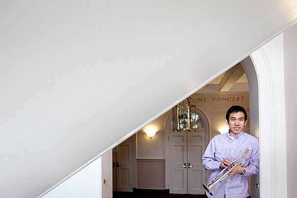 """It was at Harvard that I discovered a more fulfilling purpose to playing music,"" said George Zuo '13, a trumpet player in Mariachi Véritas de Harvard. ""I joined the mariachi on a whim, but the experience could not have been more life-changing for me."""
