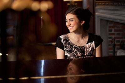 "Kelsey Beck '14, who was recently named Miss Boston and will be competing for the Miss Massachusetts title in late June, is an accomplished pianist. The Kirkland House resident said it is all about balance. ""That balance is something in which Harvard students have a lot of pride. We're not all about academics ...,"" Beck noted."