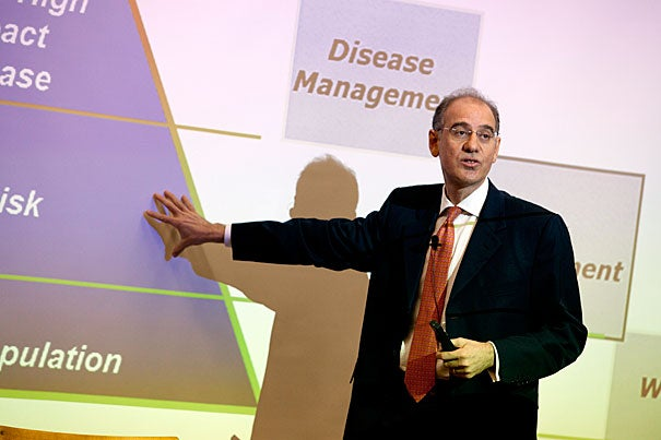 Rifat Atun, professor of international health management at Imperial College, London, said much progress has been made in improving global health, but future improvement depends on shifting the conversation from focusing on specific diseases to health platforms that buttress leadership, expand coverage of health services, and build health systems.