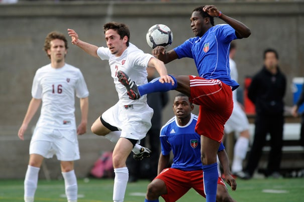 Last year, the Haiti National Soccer Team won on penalty kicks in overtime, 4-1. The game against Harvard's men's soccer team was a fundraiser for Harvard-affiliated Partners In Health. This year the event will take place April 22 at Harvard Stadium.