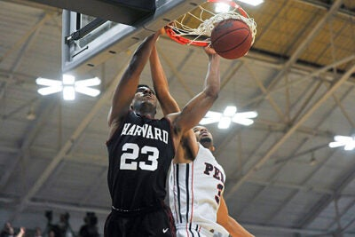 Harvard men's basketball v. Penn. Penn won, 55-54. Jon Chase/Harvard Staff Photographer